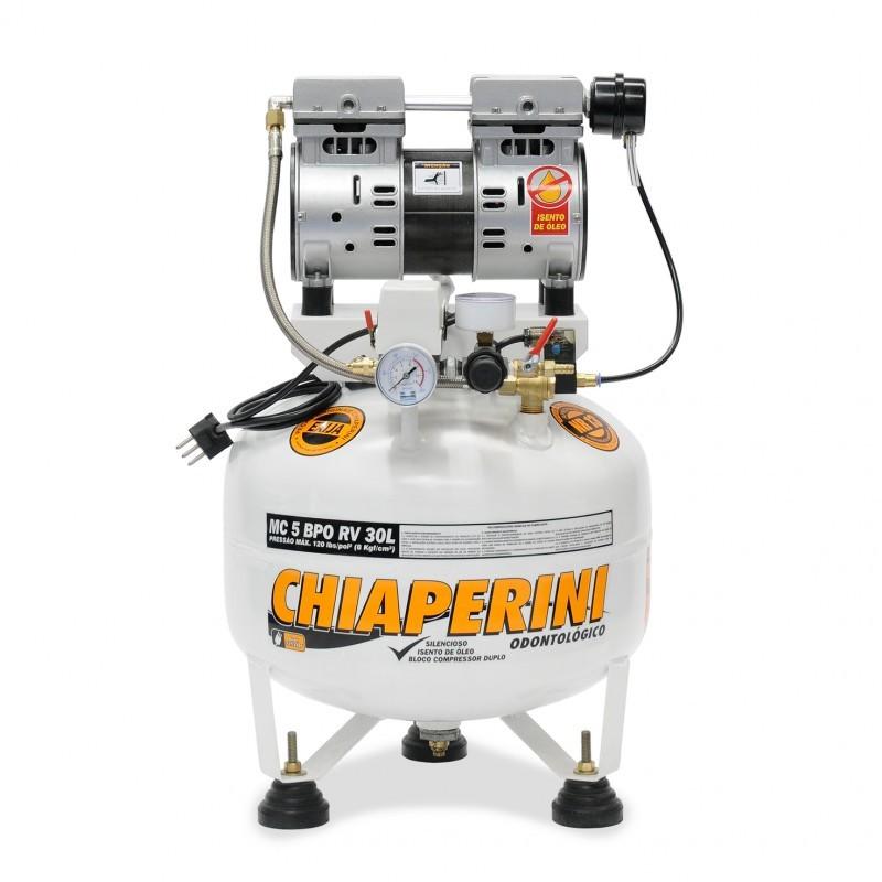 Motocompressor Odontológico 5 BPO 30L sem Óleo Chiaperini