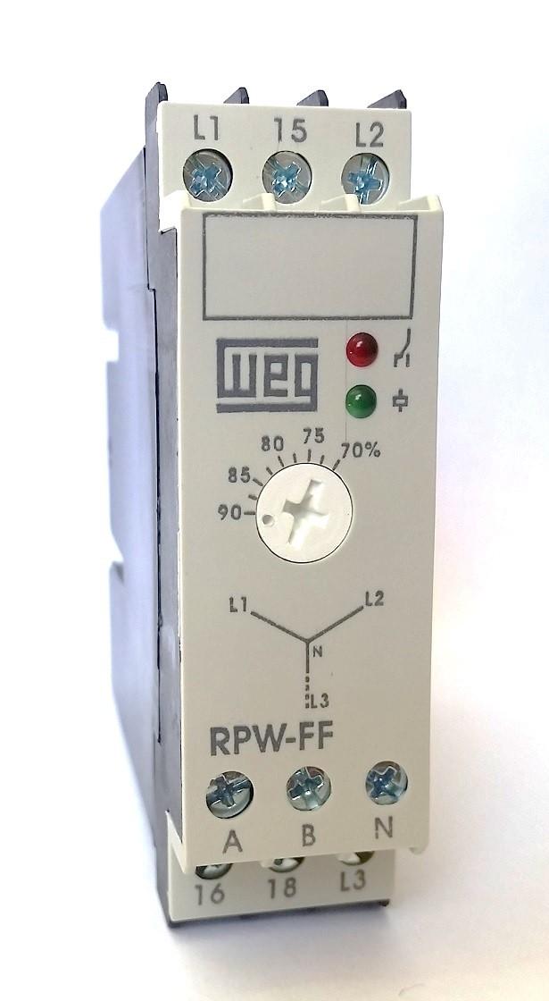 Relé de Proteção de Falta de Fase RPW-FF 220-240V WEG