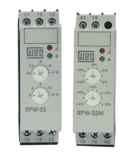Relé de Proteção Subtensão e Sobretensão RPW-SS WEG