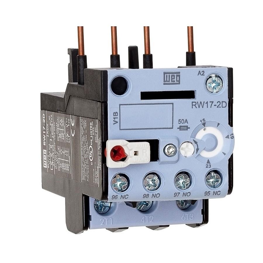 Relé sobrecarga 15-23A RW17-2D3-U023 p/ Contator CWC025 WEG