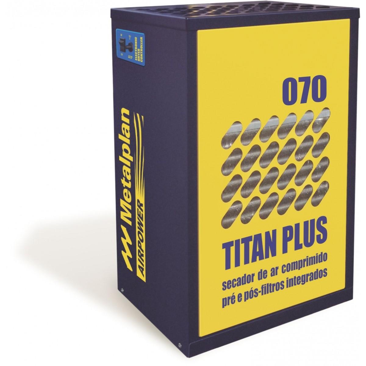 Secador de Ar Refrigerado 70PCM Pré/Pós Filtro Titan Plus