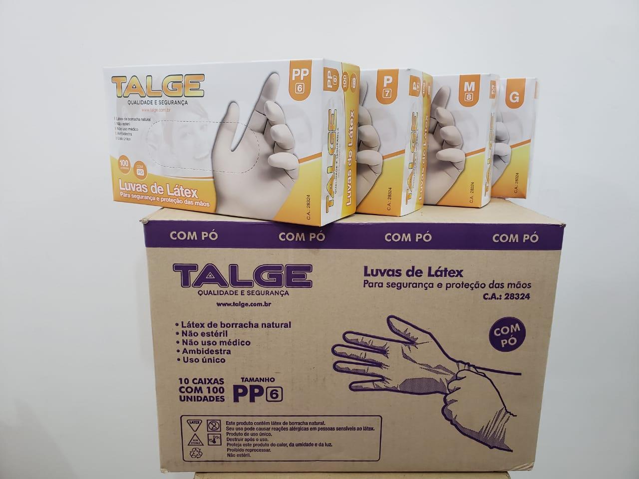 Luva de Látex - caixa c/ 10 caixinhas - Talge