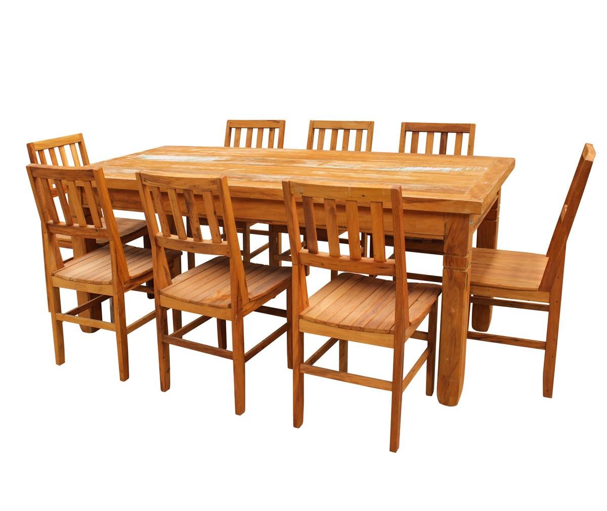 Conjunto mesa de jantar 2 5 metros 8 cadeiras ana hickman for Mesa 2 metros comensales