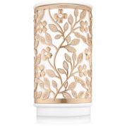 Wax Warmer - Cerâmica Branco / Flores Douradas