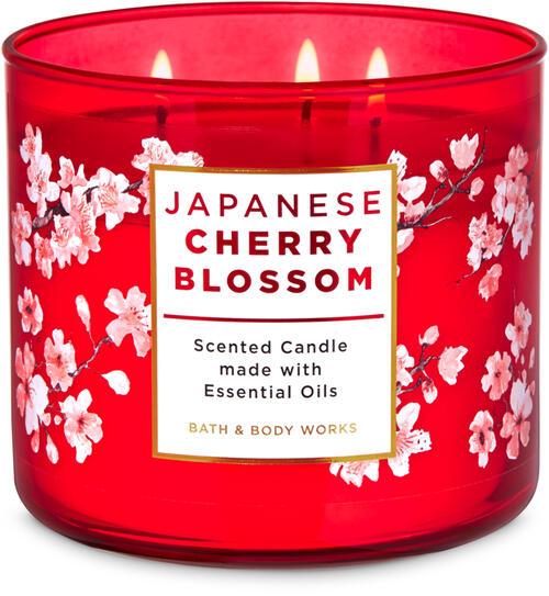 Vela 3 Pavios - Japanese Cherry Blossom