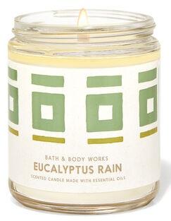 Vela Pavio Simples - Eucalyptus Rain