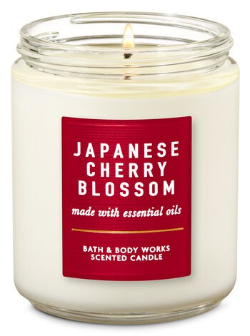 Vela Pavio Simples - Japanese Cherry Blossom