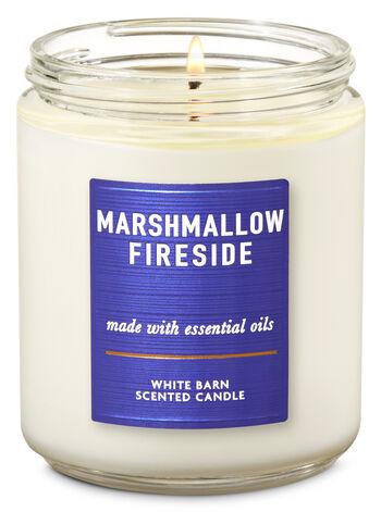 Vela Pavio Simples - Marshmallow Fireside