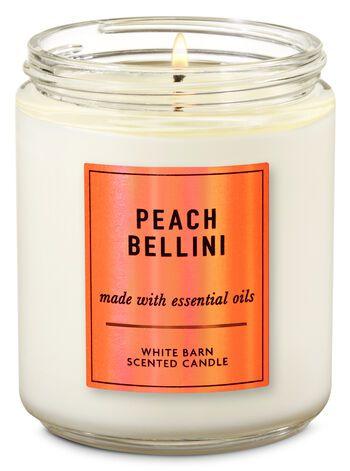 Vela Pavio Simples - Peach Bellini