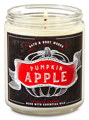 Vela Pavio Simples - Pumpkin Apple
