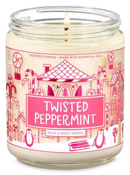 Vela Pavio Simples - Twisted Peppermint