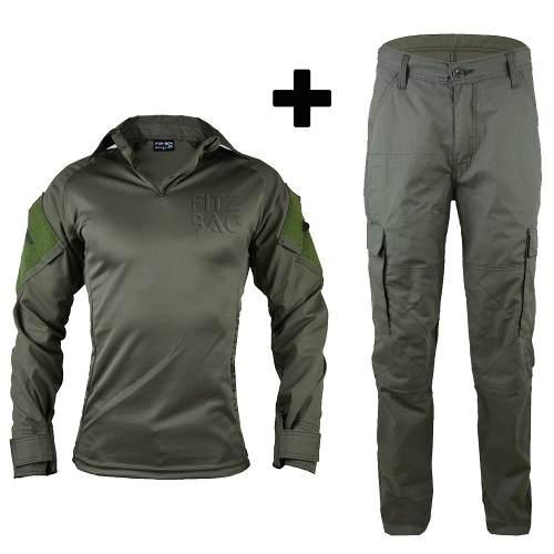 Farda Combat Shirt Tática Militar Reforçada Verde Oliva - Fitz Bag ee2459405e9