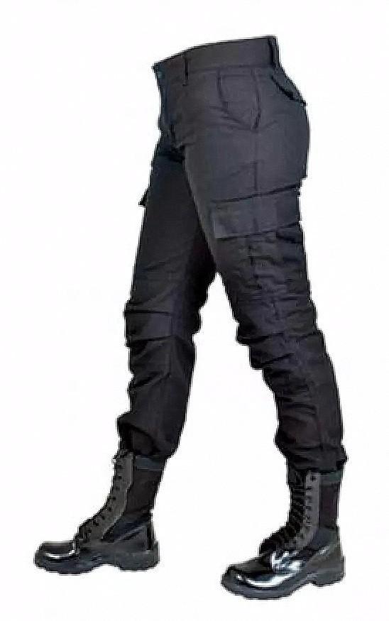 Calça Cargo Feminina Tática Camuflado Lisa Grande Plus Size - Fitz Bag 1cc066795a6