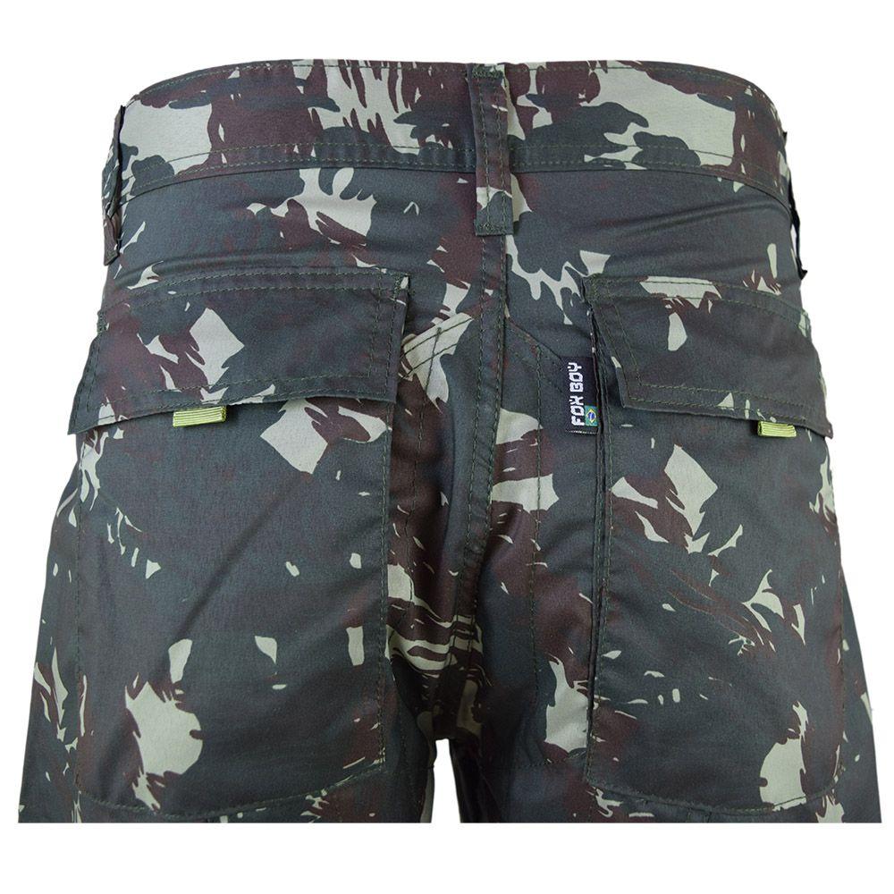 Calça Tactel Camuflado Exército Militar Cargo 6 Bolsos - Fitz Bag 4a4bf3d2286