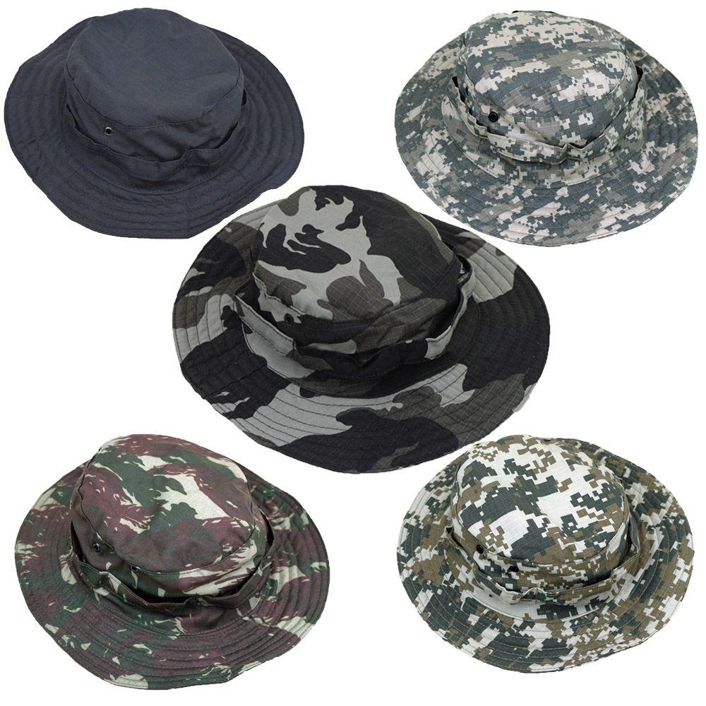 Chapéu Camuflado Hat E Liso Em Rip Stop Trekking Caminhada - Fitz Bag 1a314794612