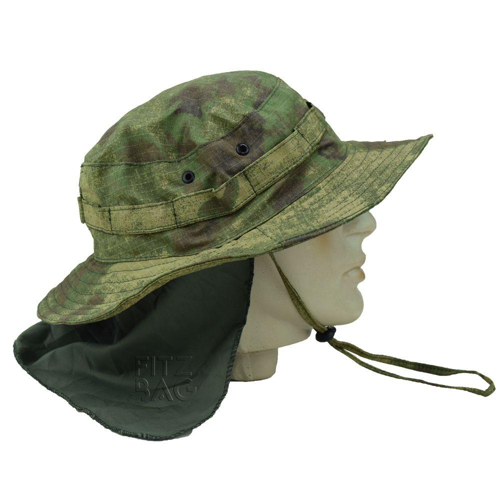 Chapéu Pescaria Camuflado Com Aba Protetora Caça Militar e5ce39baa5a