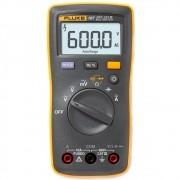 Fluke 107 - Multímetro Digital Tensão AC/DC: 600V resistência, continuidade e capacitância.