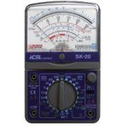 SK20 - Multímetro Analógico Icel Tensão AC/DC 1.000V Corrente DC: 10A RESISTÊNCIA:  20MOHM
