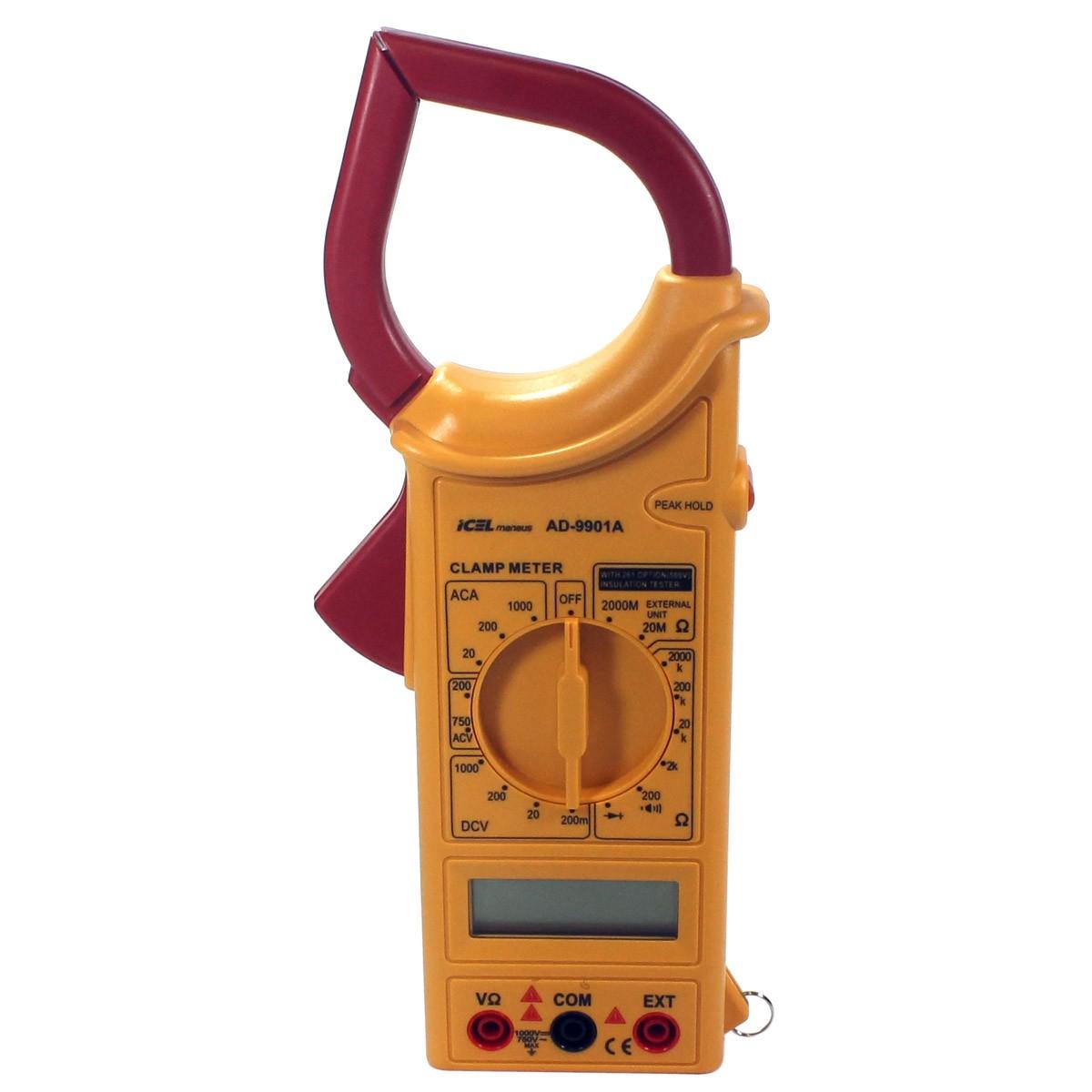AD9901A - Alicate Digital Icel Tensão DC: 1000V AC: 750V Corrente AC: 1000A  - Rio Link