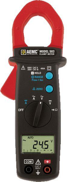 Alicate Amperímetro AEMC 503 400A AC/DC Barra Gráfica