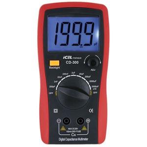 CD300 - Capacímetro ICEL Escalas: 200p/2n/20n/200n/2u/20u/200u/ 2.000u/20.000uF  - Rio Link