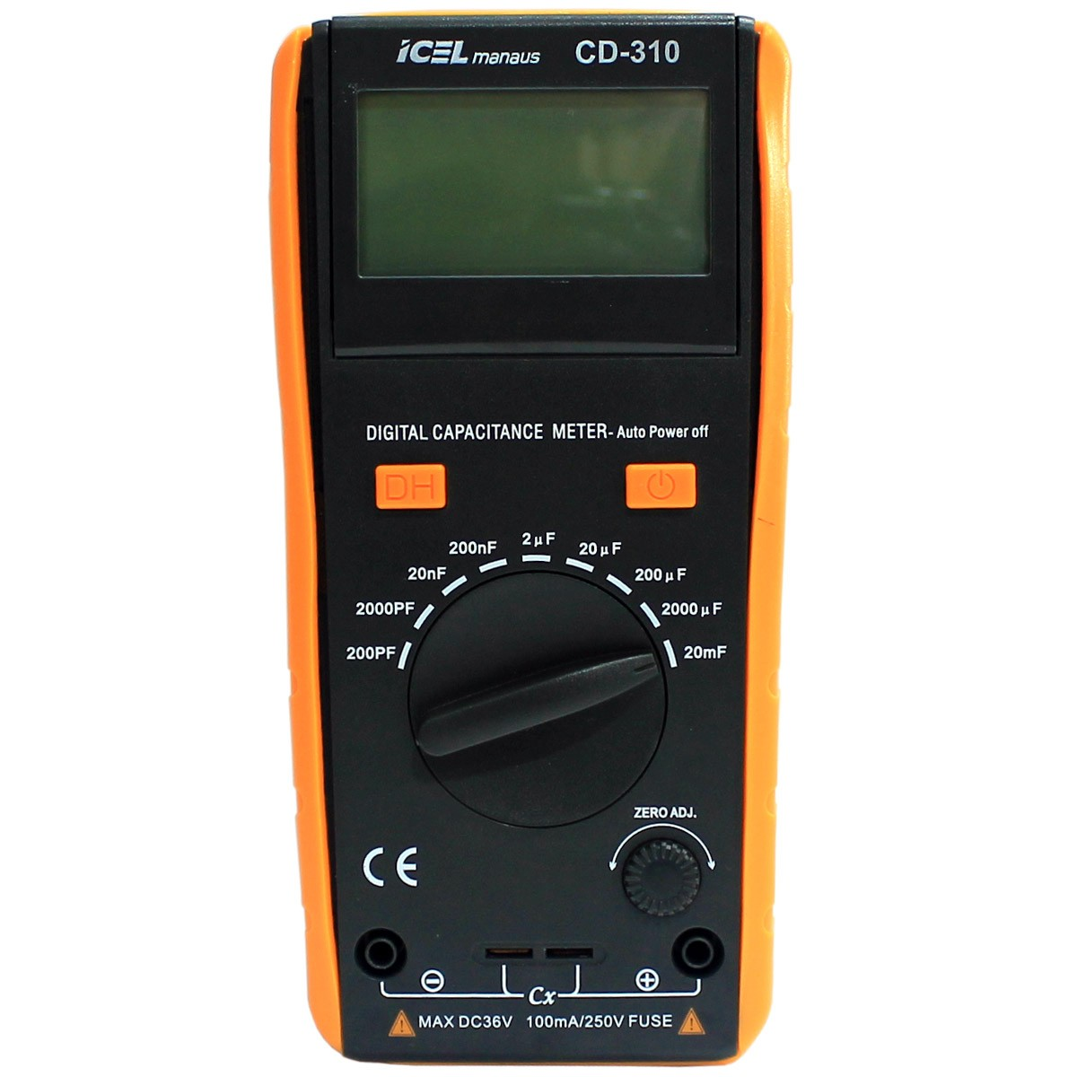 CD310 - Capacimetro Icel Escalas: 200pF/2nF/ , 20nF/200nF/2uF/ , 20uF/200uF/ , 2.000uF/20.000uF
