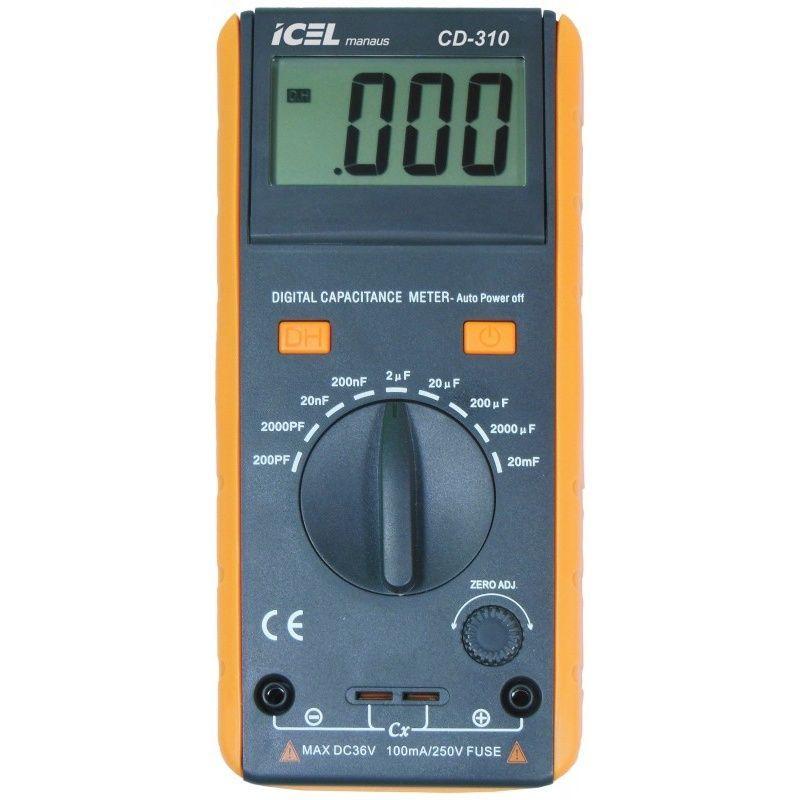 CD310 - Capacimetro Icel Escalas: 200pF/2nF/ , 20nF/200nF/2uF/ , 20uF/200uF/ , 2.000uF/20.000uF  - Rio Link
