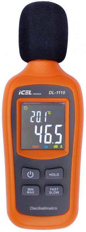 DL1110 - Decibelímetro Icel FREQUÊNCIA: 31,5 A 8KHz ESCALA: 35 A 135dB  - Rio Link