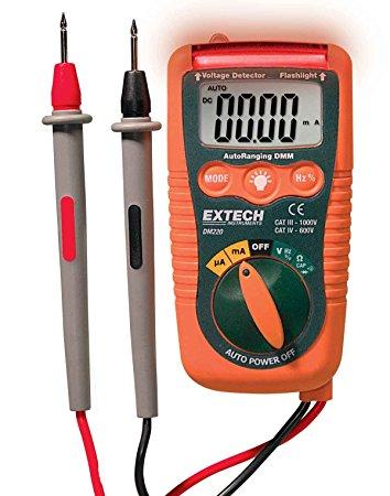 DM220 - Mini multímetro de bolso Extech com detector de tensão  - Rio Link