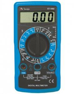 ET1002 - Multímetro Digital Minipa Tensão AC/DC: 600V Corrente 10A  - Rio Link