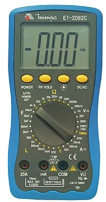 ET2082C - Multímetro Digital Minipa Tensão DC: 1000V, Temperatura, Indutância.  - Rio Link