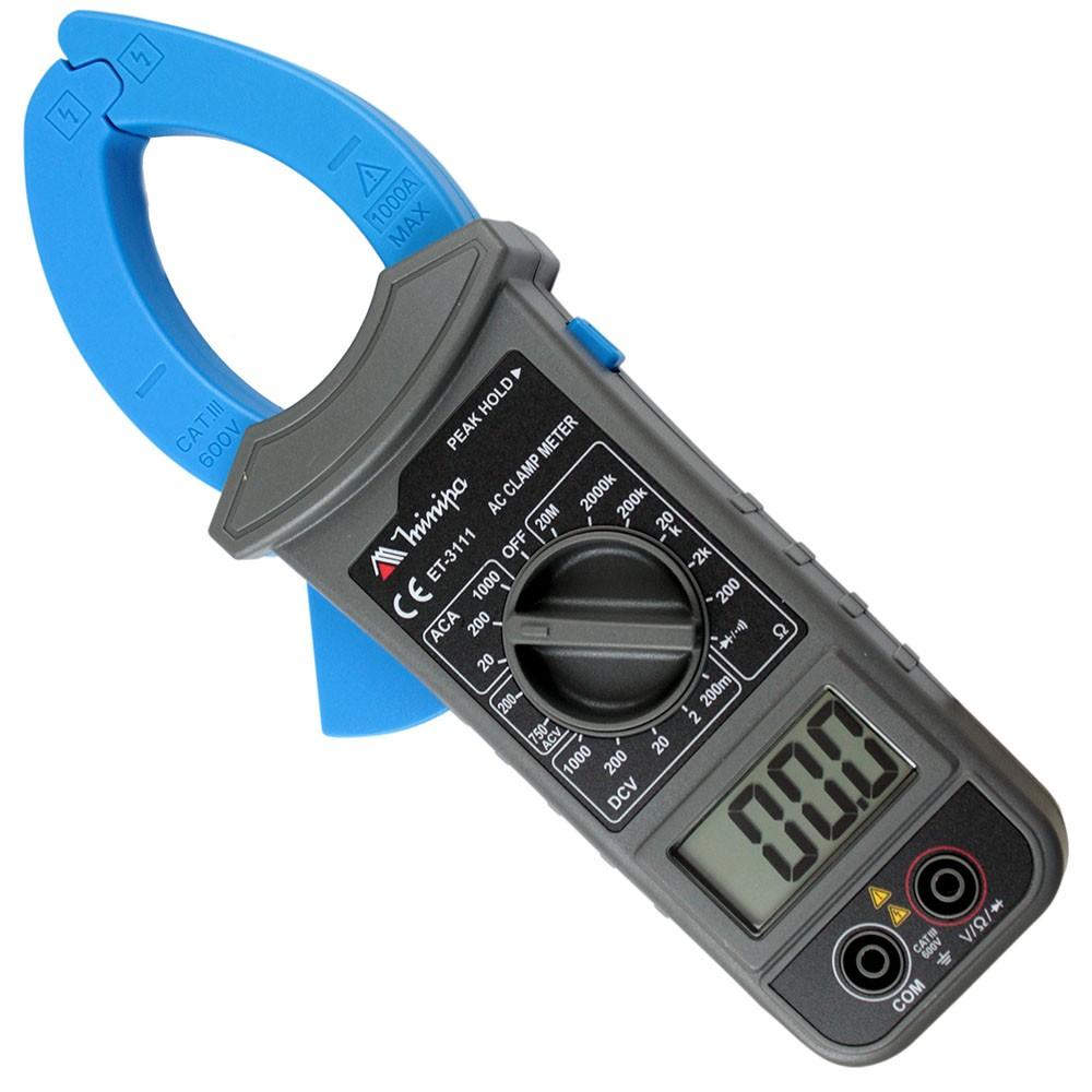 ET3111 - Alicate Digital Minipa AC 750V, DC 1000V  - Rio Link