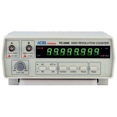 FC2400 - Frequencímetro Digital Icel Freqüência: 50M e 2.400MHz  - Rio Link