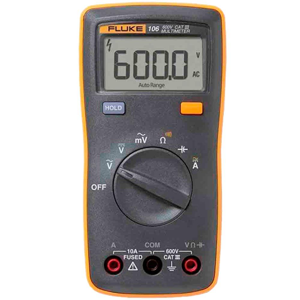 Fluke 106 - Multímetro Digital Fluke Tensão AC/DC: 600V resistência, continuidade e capacitância  - Rio Link