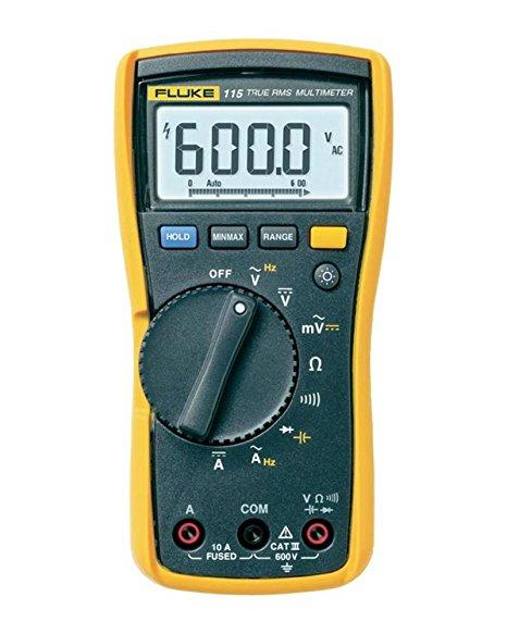 Fluke 115 - Multímetro Digital Mín/Máx/Média para registar flutuações de sinal  - Rio Link