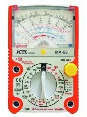MA55 - Multímetro Analógico ICEL Tensão AC/DC: 1.000V Corrente DC: 10A   - Rio Link