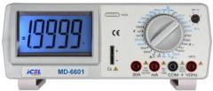 MD6601 - Multímetro Digital De Bancada Tensão DC/AC: 1.000V/750V Corrente DC/AC: 20A Resistencia: 20MOHM  - Rio Link