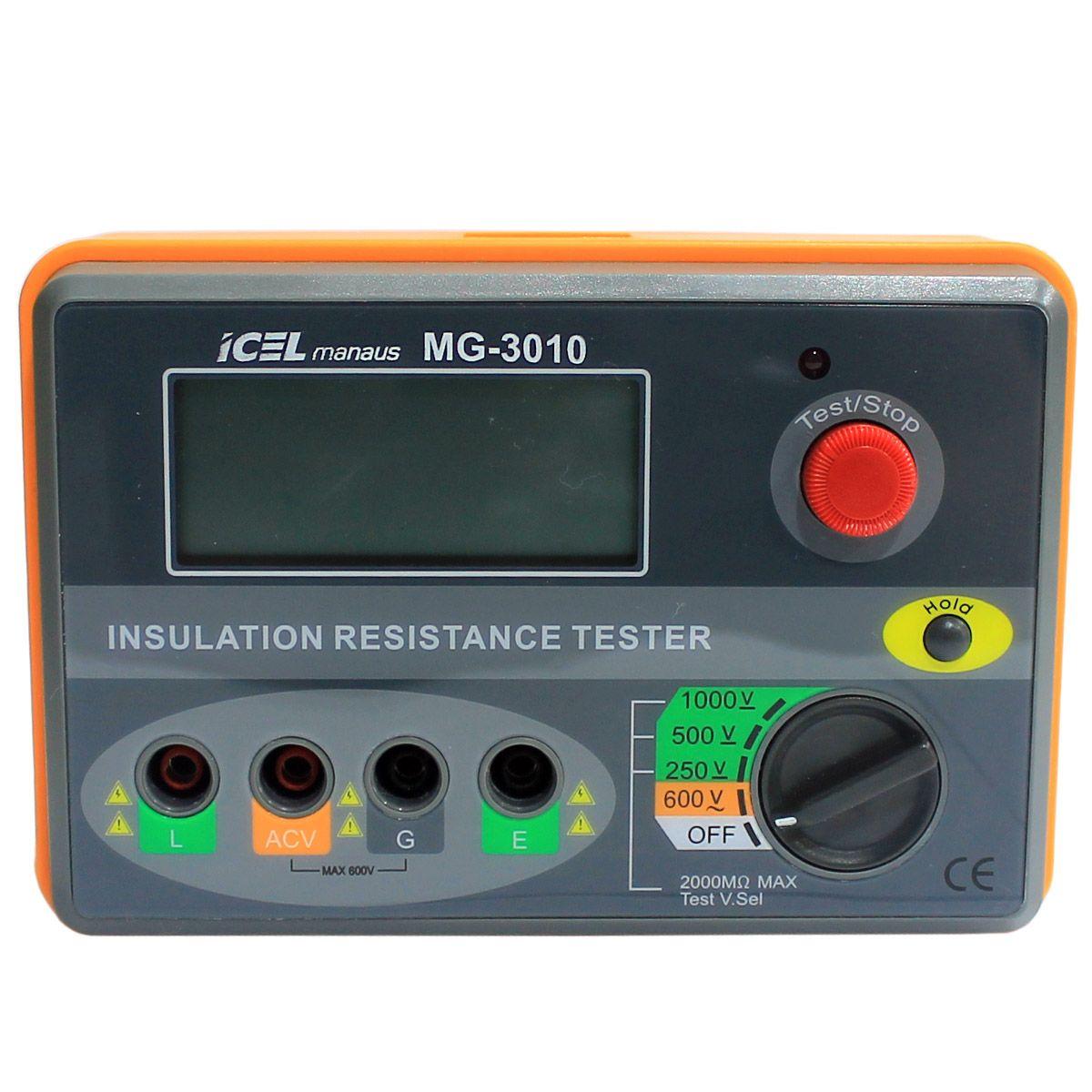 MG3010 - Megometro Digital 2.000 MOHM (1000V)   - Rio Link