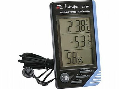 MT241 - Relógio Termo-Higrômetro Minipa