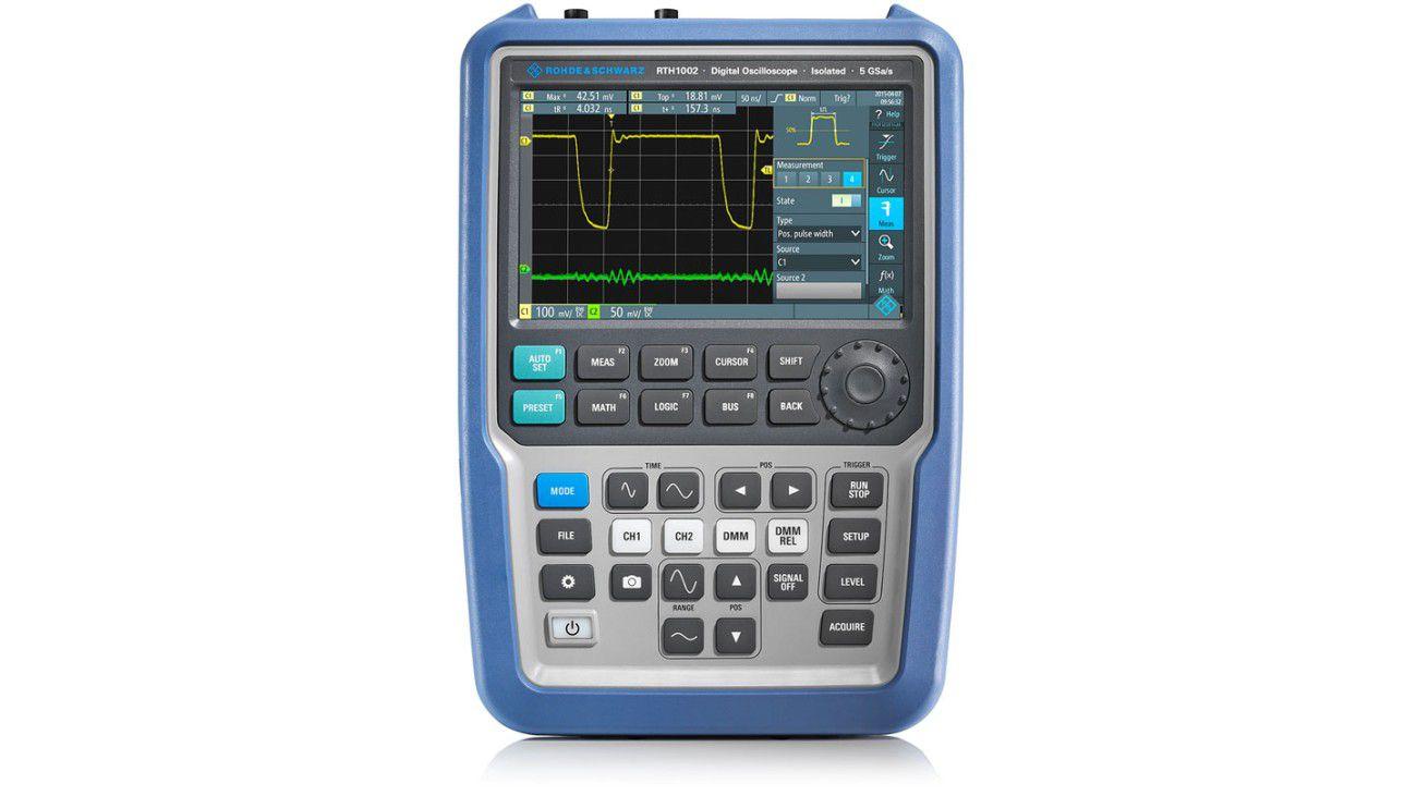 Osciloscópio Portátil RTH 4 canais isolados Tela Touch-screen 60MHz