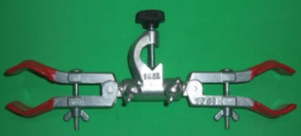 Pinça dupla para bureta com mufa giratória  - Rio Link