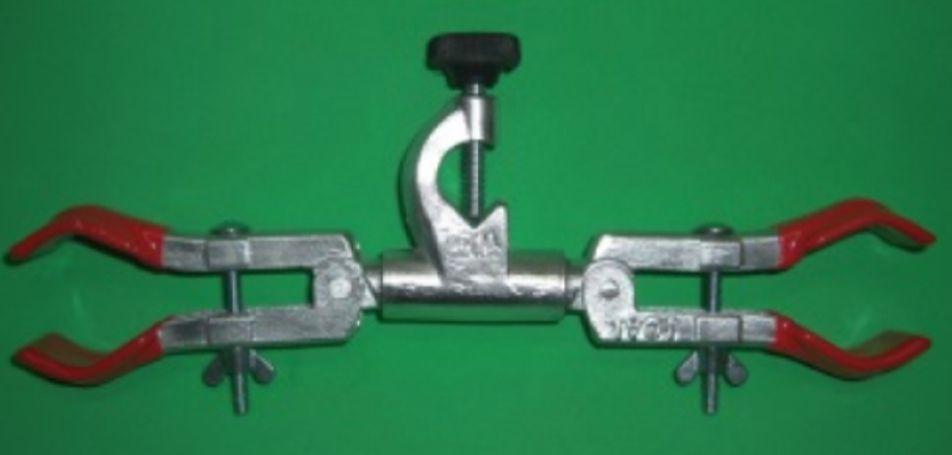 Pinça dupla para condensador com mufa  - Rio Link