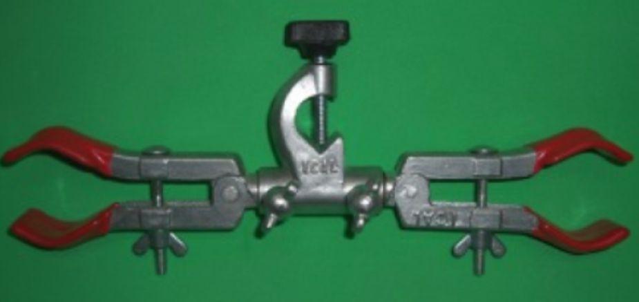 Pinça dupla para condensador com mufa giratória  - Rio Link