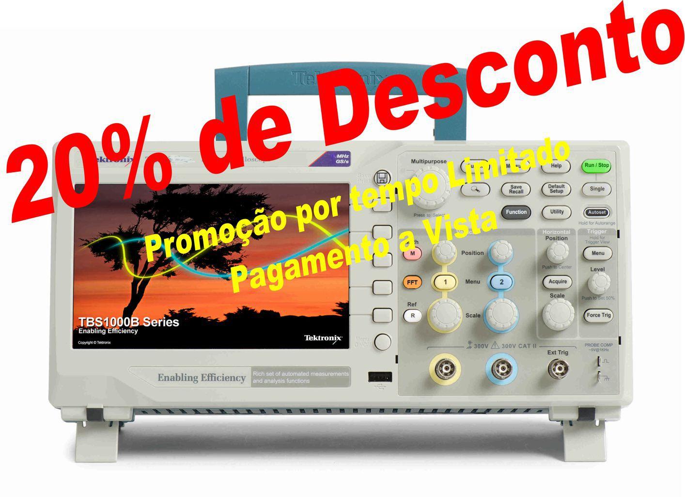 TBS1102B - Osciloscópio Digital Tektronix 100MHz  - Rio Link