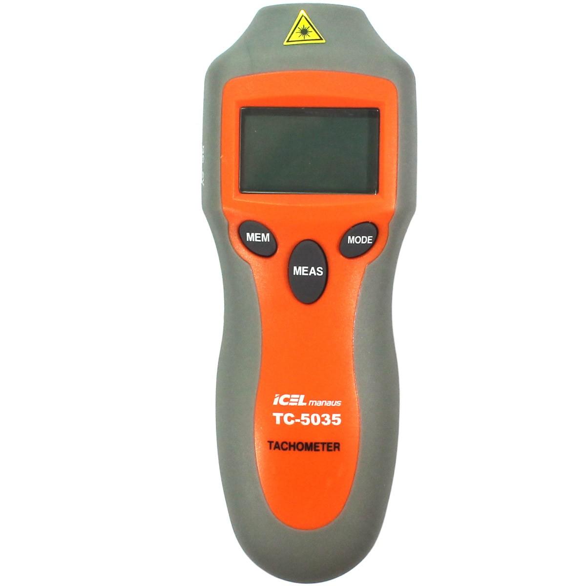 TC5035 - Tacômetro ICEL - Ótico e Contato  - Rio Link
