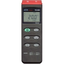 TD990 - Termômetro duplo ICEL -200°C ~ 1370°C