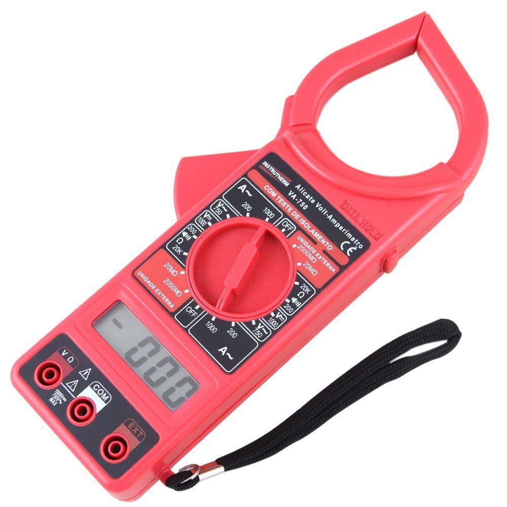 VA750 - Alicate Digital Instrutherm Corrente AC: 1000A  - Rio Link