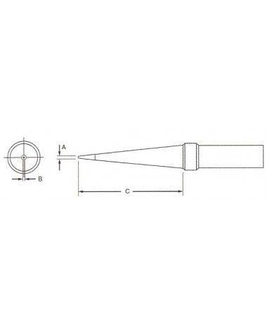 WPTS 7 - Ponta Conica Weller Longa 0,4mm 370º  - Rio Link