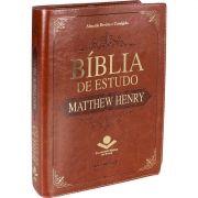 BÍBLIA DE ESTUDO MATTHEW HENRY MARROM