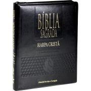 BÍBLIA SAGRADA LETRA EXTRA GIGANTE, EDIÇÃO COM LETRAS VERMELHAS COM HARPA CRISTÃ PRETA COM ZIPER